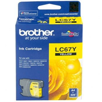 BROTHER LC67 YELLOW INK 325 PAGE YIELD FOR 5890, 6490, 6690 & 6901