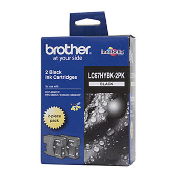 BROTHER LC67 BLACK TWIN HY INK 2X 900 PAGE YIELD FOR 5890, 6490, 6690 & 6892