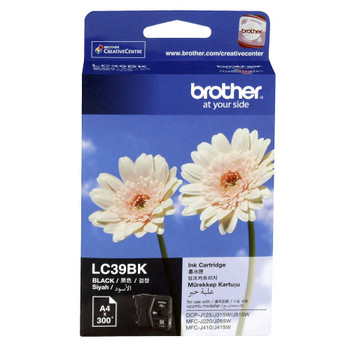 BROTHER LC39 BLACK INK 300 PAGE YIELD FOR 315, 515, 265, 410 & 415
