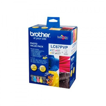 BROTHER LC67 PHOTO VALUE PACK 1425 (450 + 3X 325) PAGE YIELD FOR 5890, 6490, 6690 & 6900