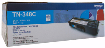 Brother TN-348C Toner Cartridge Cyan - 6,000 Pages