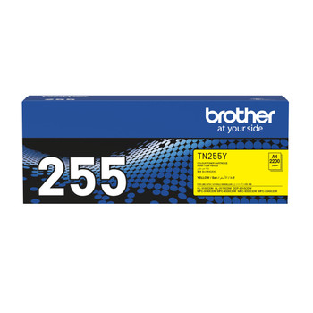 Brother TN-255Y Toner CartridgeYellow - 2,200 Pages