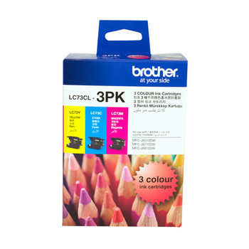 BROTHER LC73 CYM TRIPLE INK 3X 600 PAGE YIELD FOR J6510, J6710 & J6913