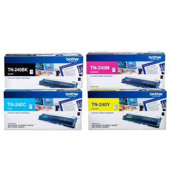 BROTHER TN240 CYMK TONER PACK 2,000 + 3X 1,400 PAGE YIELD FOR 3070, 9120, 9320 & 9010