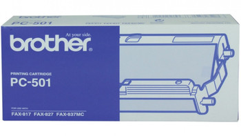 BROTHER PC501 THERMAL RIBBON 144 PAGE YIELD FOR FAX-827 & FAX-837