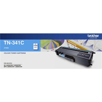 Brother TN-341C Toner Cartridge Cyan - 1,500 Pages