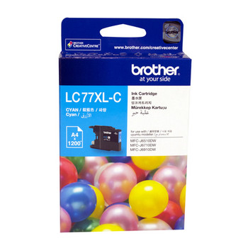 BROTHER LC73 CYAN INK 600 PAGE YIELD FOR J6510, J6710 & J6912
