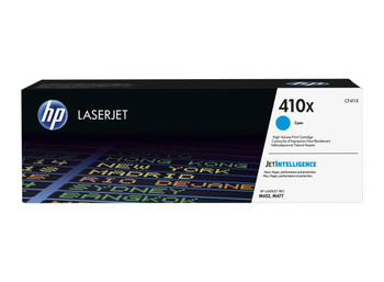 HP 410X High Yield  M452/M377/M477 Cyan LaserJet Toner Cartridge (CF411X)
