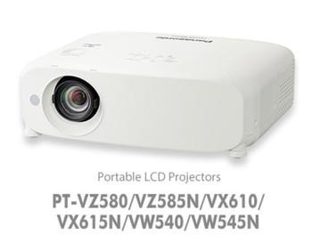 Panasonic VZ580 - Install, 3LCD, 5000 Lumens, WUXGA, 2x HDMI / 2x VGA / VIDEO IN, LAN Control, 10W Speaker