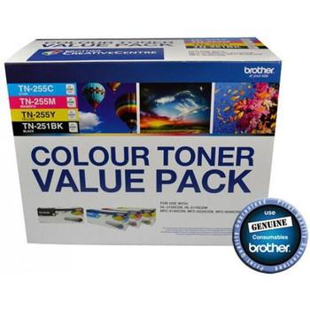 Brother TN-251BK & TN-255 Colour Toner Value Pack V2 (N8AE00003)