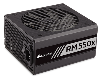 Corsair RM550x Power Supply, Fully Modular 80 Plus Gold 550 Watt, AU Version-100% All Japanese 105C capacitors- new!