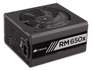 Corsair RM650x Power Supply, Fully Modular 80 Plus Gold 650 Watt, AU Version-100% All Japanese 105C capacitors- new!