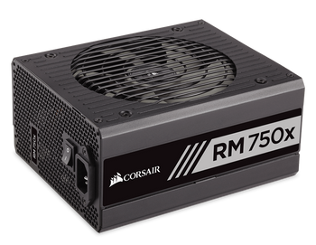 Corsair RM750x Power Supply, Fully Modular 80 Plus Gold 750 Watt, AU Version-100% All Japanese 105C capacitors- new!