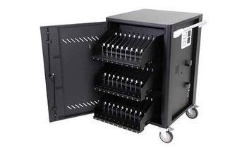 30 bays, tablets charge & sync cart