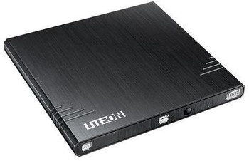 eBAU108 External Slim USB 2.0 DVDRW (Black), DVD+RW (8X), Weight: 220g