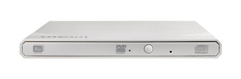 eBAU108 External Slim USB 2.0 DVDRW (White), DVD+RW (8X), Weight: 220g