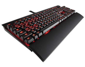 Corsair Gaming K70 Mechanical Gaming Keyboard, Backlit Red LED, Cherry MX Blue (LUX)