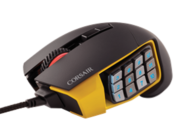 Corsair Gaming SCIMITAR PRO RGB 16,000 DPI Optical Gaming Mouse - Yellow (NEW)