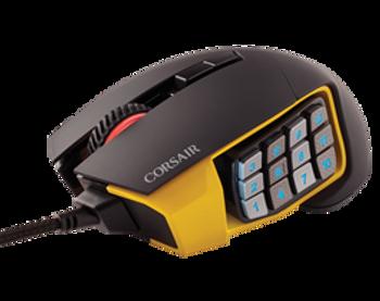 Corsair Gaming SCIMITAR PRO RGB 16,000 DPI Optical Gaming Mouse - Yellow (NEW)