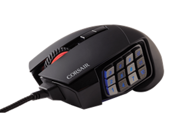 Corsair Gaming SCIMITAR PRO RGB 16,000 DPI Optical Gaming Mouse - Black (NEW)