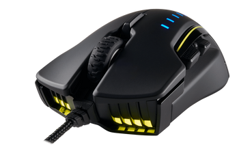 Corsair Gaming GLAIVE RGB Gaming Mouse, Backlit RGB LED, 16000 DPI, Optical, Black