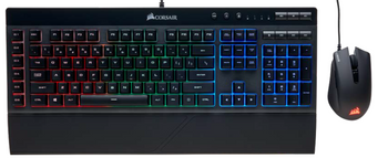 Corsair K55 & HARPOON RGB Gaming Keyboard and Mouse Combo