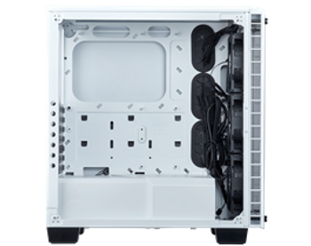 Corsair Crystal Series 460X RGB White Tempered Glass, Compact ATX Mid-Tower Case