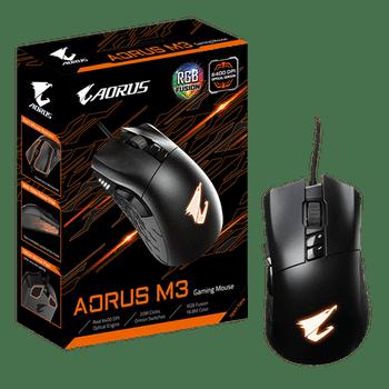 AORUS M3 Mouse Gaming Optical, 6400 DPI adjustable, RGB