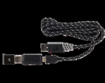 CORSAIR DARK CORE RGB Performance Wired / Wireless Gaming Mouse, Black, Backlit RGB LED, 16000 DPI, Optical