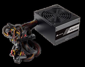 CORSAIR VS Series, VS450, 450 Watt (450W), Active PFC, 80 PLUS White Certified Power Supply