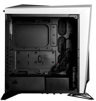 CORSAIR Carbide Series SPEC-OMEGA RGB Mid-Tower Tempered Glass Gaming Case, White and Black