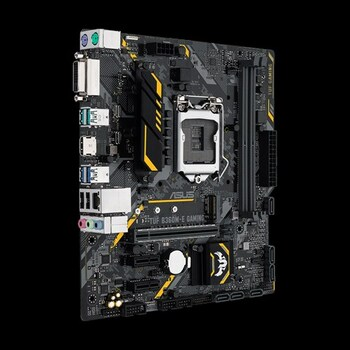 ASUS TUF-B360M-E-GAMING LGA 1151 mATX Gaming Motherboard with Aura Sync RGB LED lighting, DDR4 2666MHz support, 32Gbps M.2