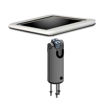 SpacePole White POS Duratilt Pole / iFrame Case Bundle - Apple 5/6th Gen iPad, iPad Air & Air2.