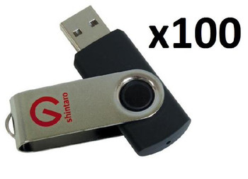 BULK BUY 100 x Shintaro 8GB Rotating Pocket Disk USB2.0