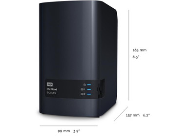 My Cloud 20TB EX2 Ultra 2-bay NAS - 1.3GHz Dual-Core CPU,1GB DDR3,RAID,backup,media server - Charcoal