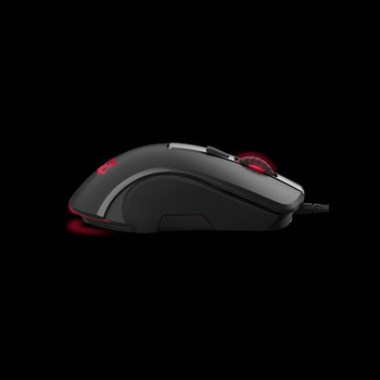 Gaming mouse with a magnesium alloy base, Omron switches, customizable multicolor RGB LED lighting, DPI switch, textured side grip and specialized sof