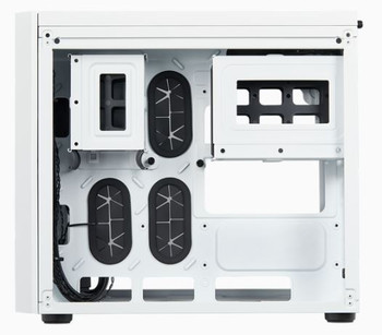 CORSAIR Crystal Series 280X Tempered Glass Micro ATX PC Case, White