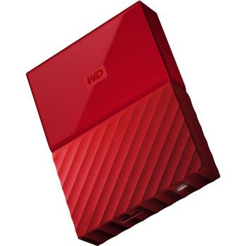 WD 2TB My Passport Portable Hard Drive (Red)