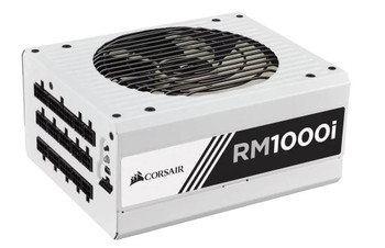 CORSAIR RM1000i, ATX12V v2.4 and EPS 2.92, 1000W, High Performance Power Supply (WHITE) - No LED FAN  **BULK PACK (Non-Retail Pack)