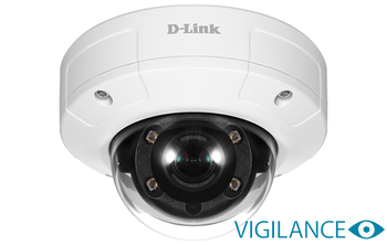 Vigilance 3MP Full HD Day & Night Outdoor Vandal-Proof Mini Dome PoE Network Camera (optional power supply available DLP101-12V1.5A)