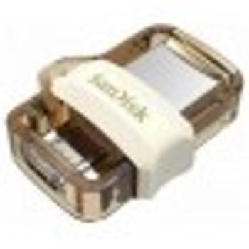 SanDisk UltraDual Drive m3.0, Gold Edition,USB3.0, USB3.0micro-USB cnnectr,OTG-enbld Android dvics, 5Y