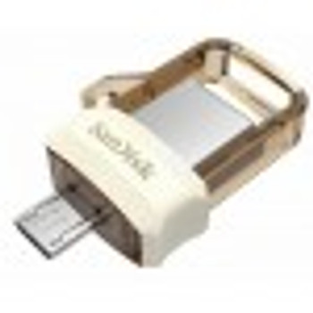 SanDisk UltraDual Drive m3.0, Gold Edition,USB3.0, USB3.0micro-USB cnnectr,OTG-enbld Android dvics, 5Y