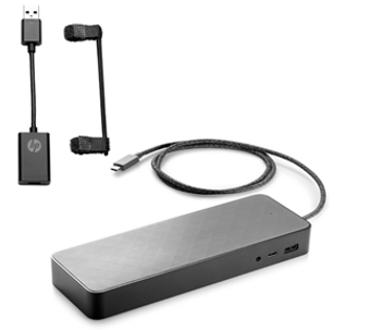 HP USB-C Universal Dock Non-Flash w/4.5mm adapter - power not supported on mWKS or USB-data only ports