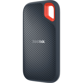 SanDisk Extreme Portable SSD, SDSSDE60 2TB, USB 3.1, Type C & Type A compatible, Speeds up to 550MB/s, IP55 dust-water resistance, 3Y
