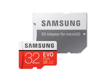 Micro SDHC 32GB EVO Plus /w Adapter UHS-1 SDR104, Class 10, Grade 1 (U1), Up to 95MB/s read, 20MB/s Write, 10 Years Limited Warranty