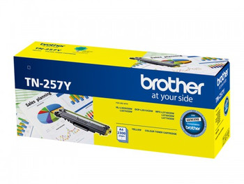 Brother TN-257Y Toner Cartridge Yellow High Yield - 2,300 Pages