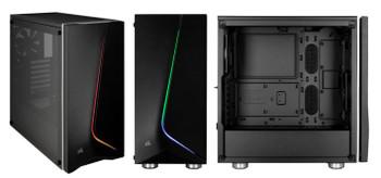 CORSAIR Carbide Series SPEC-06 Tempered Glass RGB Mid-Tower ATX Case, Black