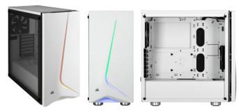 CORSAIR Carbide Series SPEC-06 Tempered Glass RGB Mid-Tower ATX Case, White