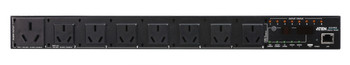 Aten 8 Port 1U 15A Smart PDU - Outlet level metering with outlet control, 7 x GB1002 10A+ 1 x GB1002 15A