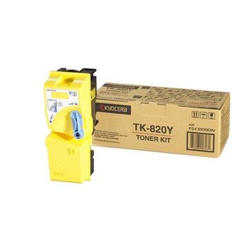 Kyocera TK-820Y Yellow Toner (7k Yield)
